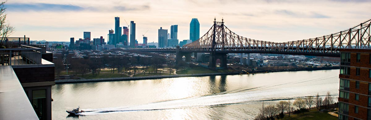 View of Manhattan from a Weill Cornell Medicine housing option.