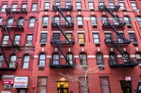 77th Street is a classic New York walk-up building.